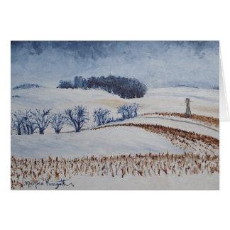 Rolling Fields in Winter Greeting Card