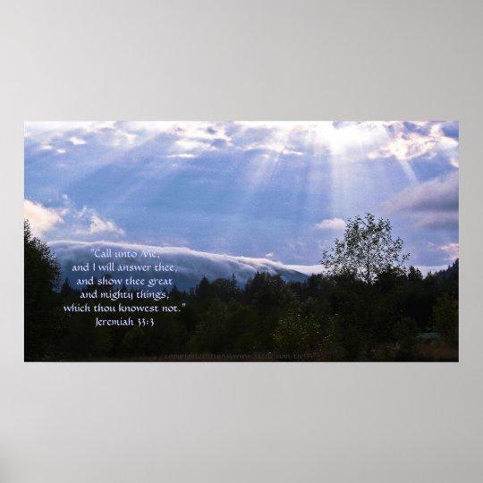 Rolling Fog Print w/Scripture Verse