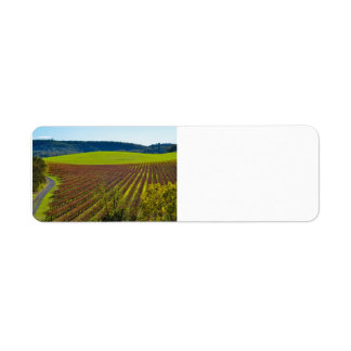 Rolling Hills And Vineyards Label