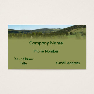 Rolling Hills blue sky Business Card