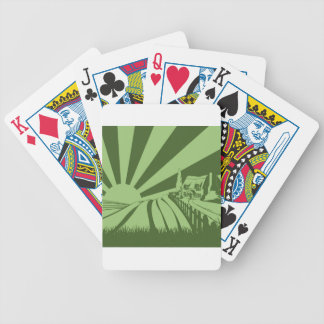 Rolling hills concept bicycle playing cards