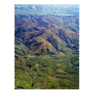 Rolling Hills en la región de Southland de Nueva Tarjetas Postales