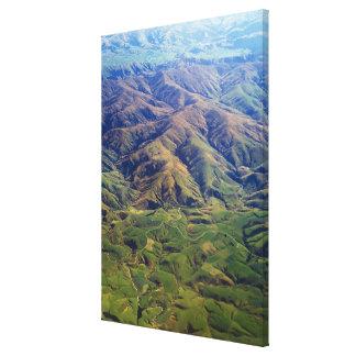 Rolling Hills en la región de Southland de Nueva Z Impresión En Lienzo Estirada