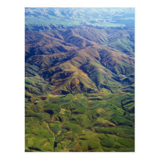 Rolling hills in Southland Region of New Zealand Postcard