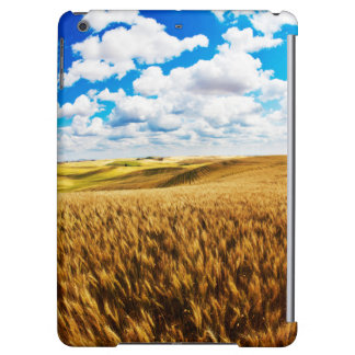 Rolling hills of ripe wheat iPad air case