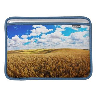 Rolling hills of ripe wheat MacBook sleeve