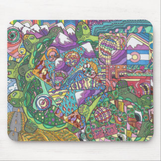 Rolling Hills of Turtles Mouse Pad