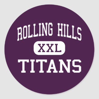 Rolling Hills - Titans - High - Fairfield Classic Round Sticker