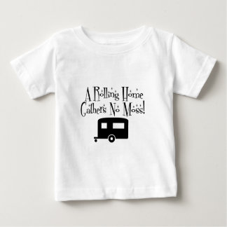 Rolling Home Gathers No Moss Baby T-Shirt