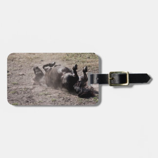 Rolling horse travel bag tag