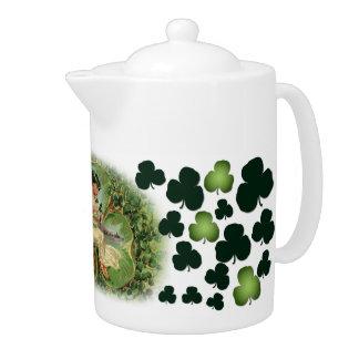 Rolling In Clover Tea Pot - 1