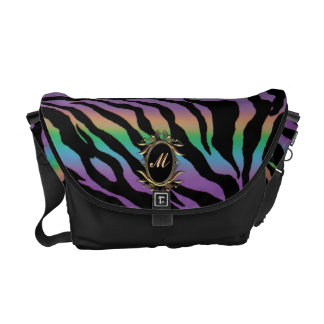 Rolling in Rainbows ~ Monogram Psychedelic Tiger Courier Bag