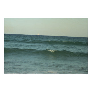 Rolling Ocean Waves Wood Wall Art