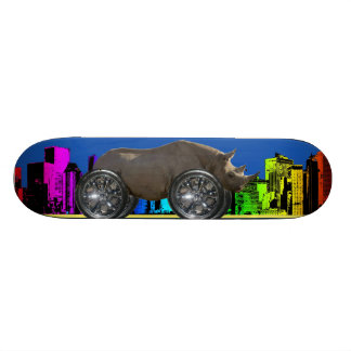 Rolling on 22 ' s [ Rhino ] Skateboard