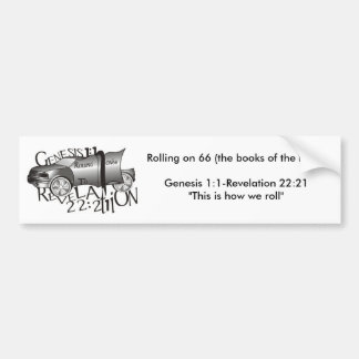 Rolling on 66 (the books of th... car bumper sticker