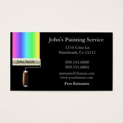 Painters business cards zazzle colourmoves Image collections
