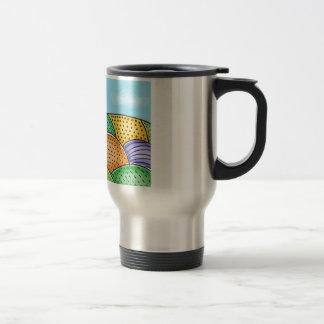 Rolling Patchwork Hillside Travel Mug