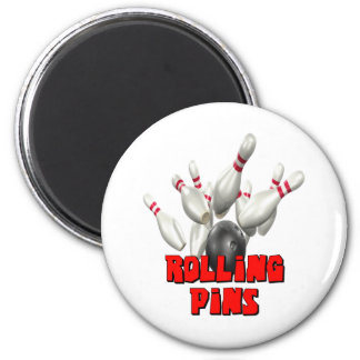 Rolling Pins Bowling Refrigerator Magnet