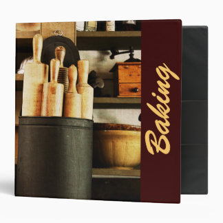 rolling pins in old country store - baking goods binder