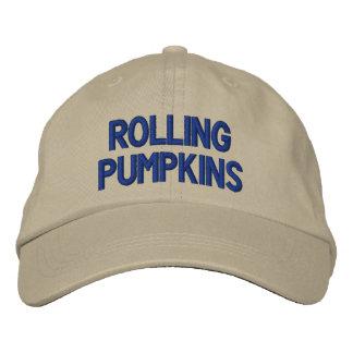 """Rolling Pumpkins""  Adjustable Cap Embroidered Hats"
