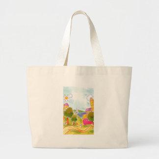rolling road jumbo tote bag