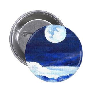 Rolling Sea - CricketDiane Ocean Art 2 Inch Round Button