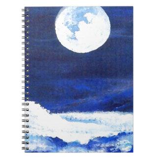 Rolling Sea Waves Under A Full Moon Ocean Notebooks