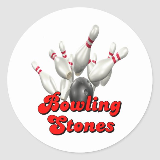 Rolling Stones Classic Round Sticker