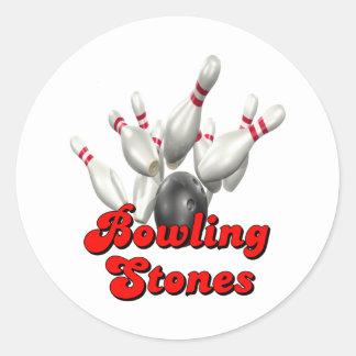 Rolling Stones Pegatina Redonda