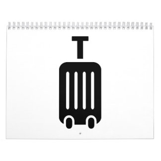 Rolling suitcase baggage calendar