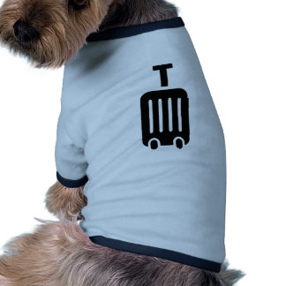 Rolling suitcase baggage dog t shirt