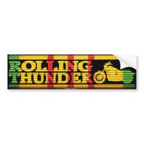 Rolling Thunder Silhouette VSR Ribbon Bumper Sticker