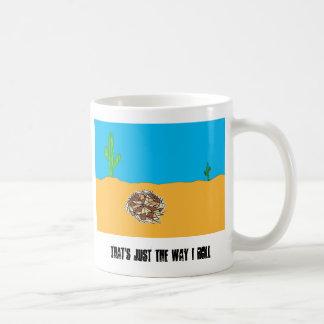 Rolling Tumbleweed Classic White Coffee Mug