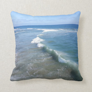 Rolling Waves: Ocean accent pillow