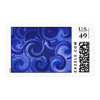 Rolling Waves Postage Stamp