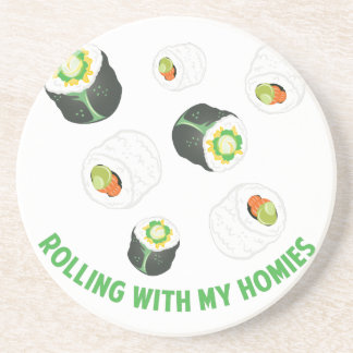 Rolling With Homies Drink Coaster