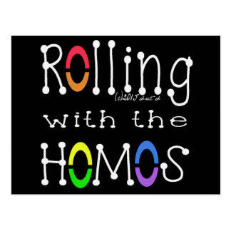 Rolling with the Homos - WH Postcard