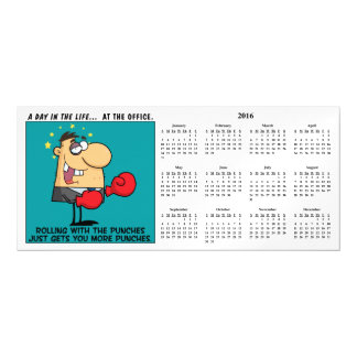 Rolling With the Punches Calendar Magnetic Card