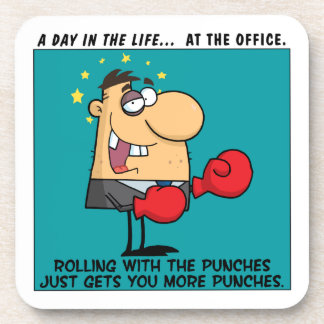 Rolling with the Punches Drink Coaster