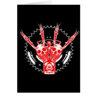 ROLLINGBONEZ III  B/R/W GREETING CARD
