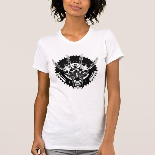 ROLLINGBONEZIII BlackW BW Camisetas