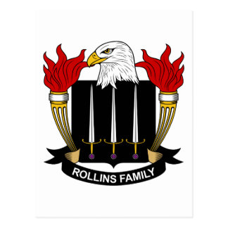 Rollins Family Crest Post Card
