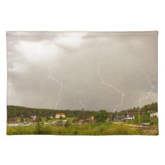 Rollinsville Colorado Lightning Thunderstorm Placemat
