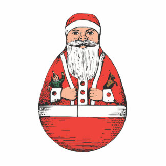 Rollly Polly Santa Photo Cut Outs