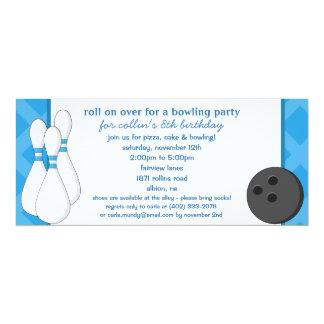 Rollo azul de Bahama encendido sobre fiesta de Invitación 10,1 X 23,5 Cm