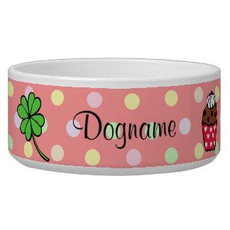 Rollo colorido personalizado de la magdalena y de  bol para perro