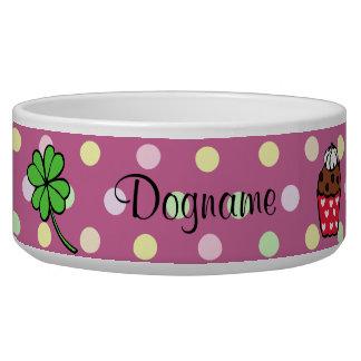Rollo colorido personalizado de la magdalena y de  tazones para perro