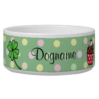 Rollo colorido personalizado de la magdalena y de  tazón para perro