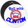 Rollo con CLINTON Hillary 2016, GrassrootsDesign4u Pin Redondo 15 Cm