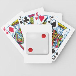 Rollo de 2 dados barajas de cartas